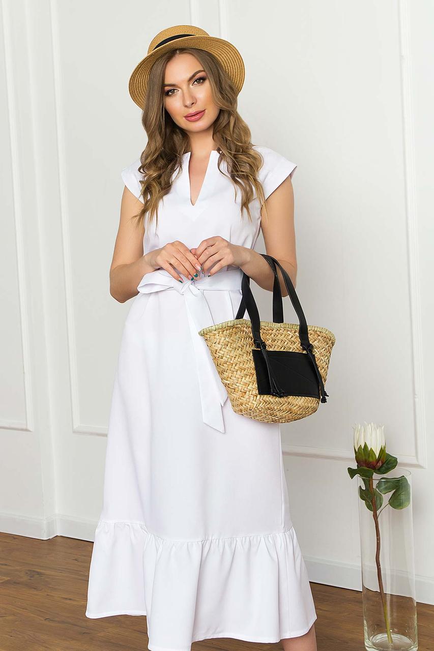 Белое легкое платье на лето