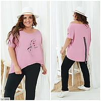 Прогулянковий костюм футболка подовжена ззаду р-ри 50-56 арт. 1008