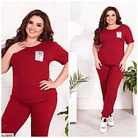 Прогулянковий костюм жіночий спортивний легкий штани з футболкою великі розміри батал 50-56 арт. 1011