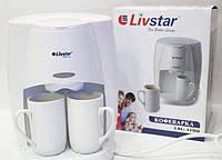 Многофункциональная электрическая кофеварка LIVSTAR LSU-1190 , капельная кофемашина для дома + 2 чашки