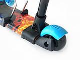 Дитячий триколісний самокат беговел з батьківською ручкою Scooter Smart 3 в 1 Вогонь і лід, фото 4