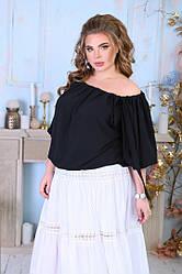 Блуза жіноча літнє на резинці великий розмір