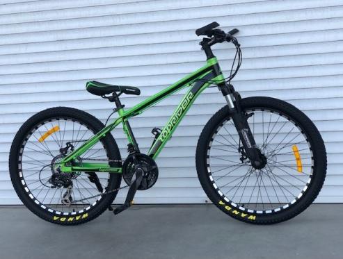 """Cпортивный алюминиевый велосипед TopRider 680 колеса 20 дюймов / SHIMANO / рама 12"""" алюминий / цвет салатовый"""