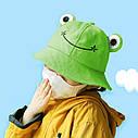 Детская Панама Жаба (Лягушка) с глазками на резинке 2, Унисекс, фото 2
