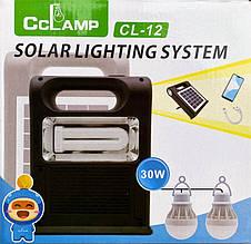 Фонарь светодиодный Cclamp cl-12, 30w,солнечная панель