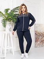 Спортивный классический костюм женский легкий кофта на молнии больших размеров 48-60 арт. 0351