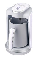 Кавоварка електрична Lexical LCP-0520 з кухлем біла | кавова машина з захистом від переливу | турка 400 Вт