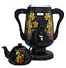 Самовар електричний LEXICAL LSV-0801 чорний (1800W) | электросамовар з керамічним заварювальний чайником, фото 3