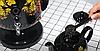 Самовар електричний LEXICAL LSV-0801 чорний (1800W) | электросамовар з керамічним заварювальний чайником, фото 7
