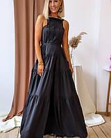 Молодежное летнее платье сарафан красивое летнее платье в пол макси яркие сарафаны красный сарафан черный