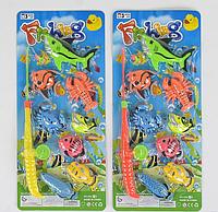 Рибалка магнітна 555-10 А на аркуші, 8 рибок
