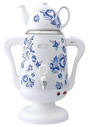 Самовар електричний LEXICAL LSV-0801 білий (1800W) | электросамовар з керамічним заварювальний чайником