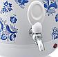 Самовар электрический LEXICAL LSV-0801 белый (1800W)   электросамовар с керамическим заварочным чайником, фото 2