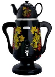 Самовар електричний LEXICAL LSV-0801 чорний (1800W) | электросамовар з керамічним заварювальний чайником