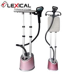 Вертикальний відпарювач для одягу Lexical LGR-1202 рожевий (2000 Вт, безперервний пар) парова станція, праска