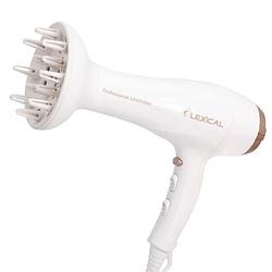 Професійний фен Lexical LHD-5008 (2200 Вт) білий   фен для волосся з насадкою   фен потужний з дифузором