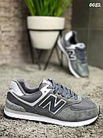 Кроссовки женские замшевые серого цвета New Balance