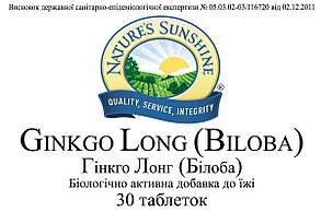 Ginkgo Long (Biloba) Гінкго Лонг (Білоба), NSP, НСП, США. Для пам'яті і уваги., фото 2