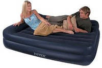 Надувная кровать Intex 66702 встроен. насос. 220В (163х208х47 см)