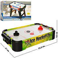 Хоккей 3001B (8шт) воздушный, деревян, 53,5-31-9,5см, на бат-ке, в кор-ке,49,5-32,5-10,5см
