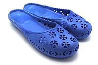 Обувь резиновая для пляжа женская. Мыльницы / лодочки / шлепанцы. Модель 700 (голубой).