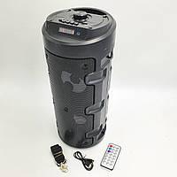 """Беспроводная колонка аккумуляторная Bluetooth акустическая система 2х4"""" USB FM 2х6Вт UKC ZQS-4210 черный"""