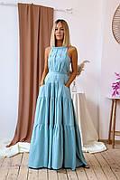 Голубое летнее платье сарафан красивое летнее платье в пол макси яркие сарафаны красный сарафан черный