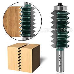 Фреза для зрощування деревини (мікрошип) (мікрошип) по ширині і довжині по дереву VOLFIX FZ-120-516 d12
