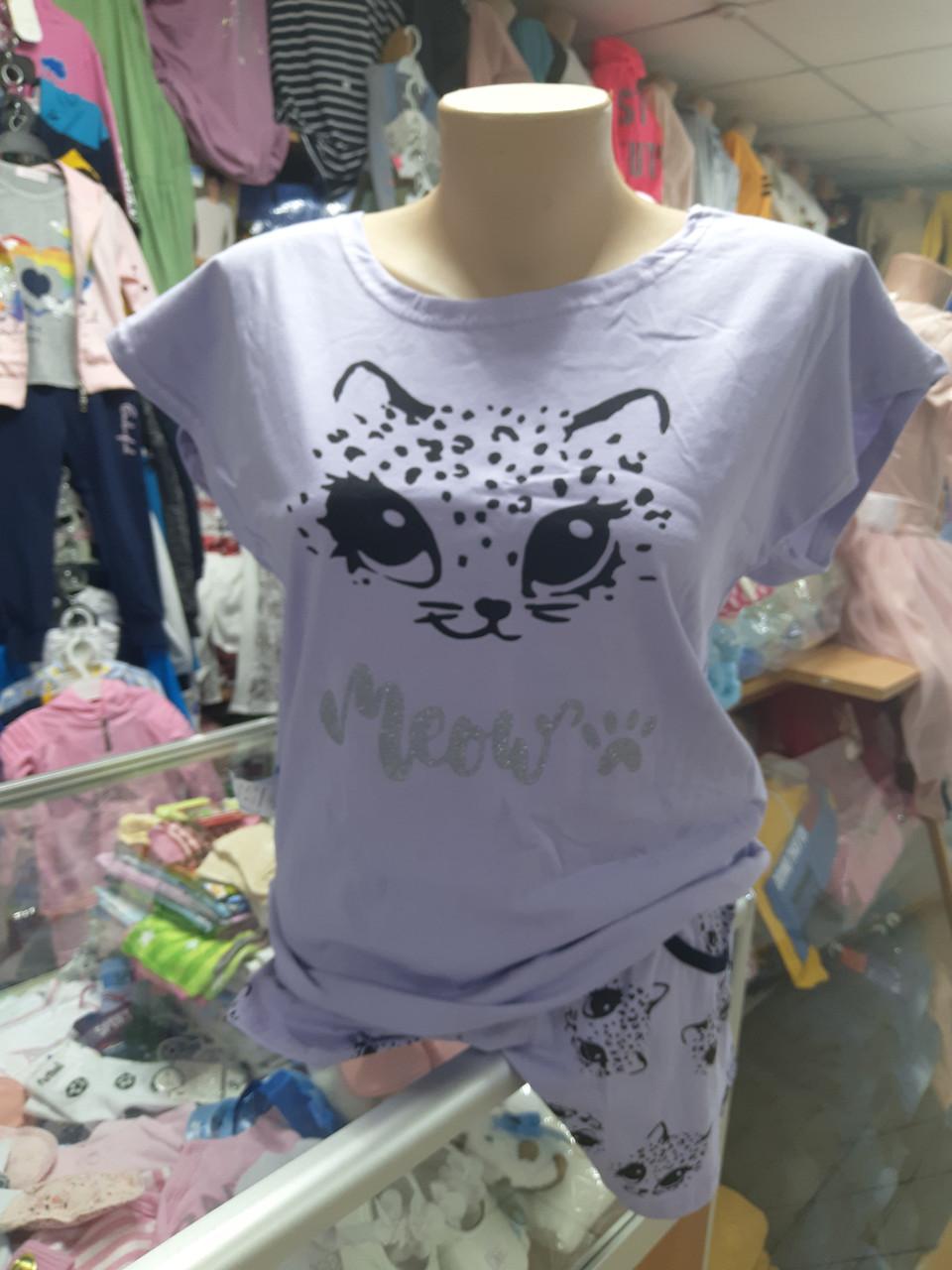 Піжама жіноча підліткова футболка шорти р. 152 158 164 170