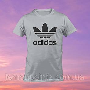 Футболка мужская спортивная Adidas серая