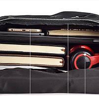 Мужской кожаный рюкзак черный городской Tiding Bag B2-21090A черный, фото 5