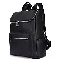 Мужской кожаный рюкзак черный городской Tiding Bag B2-21090A черный, фото 3