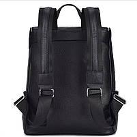 Мужской кожаный рюкзак черный городской Tiding Bag B2-21090A черный, фото 4