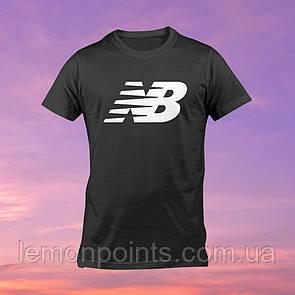 Футболка мужская спортивная New Balance черная