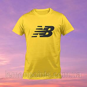 Футболка мужская спортивная New Balance желтая