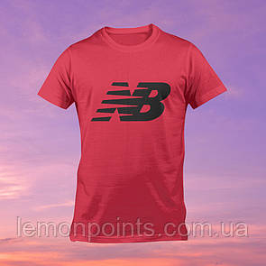 Футболка мужская спортивная New Balance красная