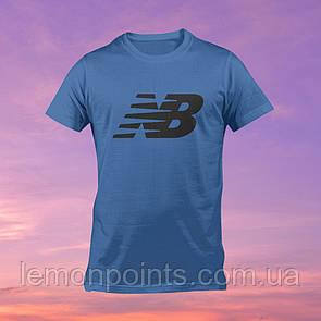 Футболка мужская спортивная New Balance синяя