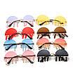 Солнцезащитные очки с подвесками каплями на рейв женские мужские очки унисекс оригинальные эксклюзивные, фото 8