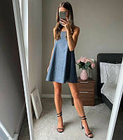 Женское платье стильное,Ткань: джинс,легкое высокого качества(42-46)