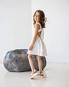 Платье для девочек, 110-128 рр. Артикул: EL1911-белый