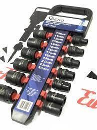 Набор торцевых ударных головок 1/2'' GEKO 10-27 мм,нові