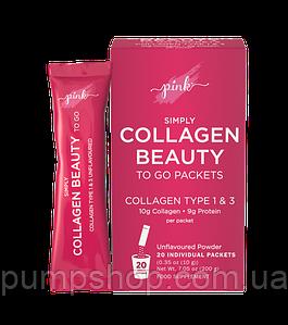 Гидролизованные пептиди колагену Pink Simply Collagen Beauty to Go 1 пак. 10 г (Grass Fed)