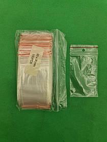 .Пакет з замком zipp 5x9 польські(100шт) (1 пач.)