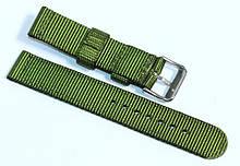 Ремінець капронову для годин 18 мм зеленого кольору