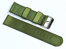 Ремешок капроновый для часов 22 мм зеленого цвета