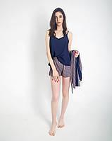 Женская пижамка шелковая (майка с шортами) Размеры 42-52, фото 1