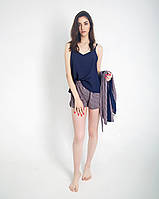 Жіноча піжамка шовкова (майка з шортами) Розміри 42-52, фото 1