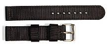 Ремешок капроновый для часов 18 мм черного цвета