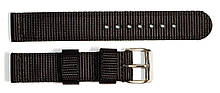 Ремінець капронову для годин 18 мм чорного кольору