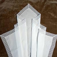 Оригинальная крыжма для крещения с большим кружевом. Модель Ladan (Ладан)